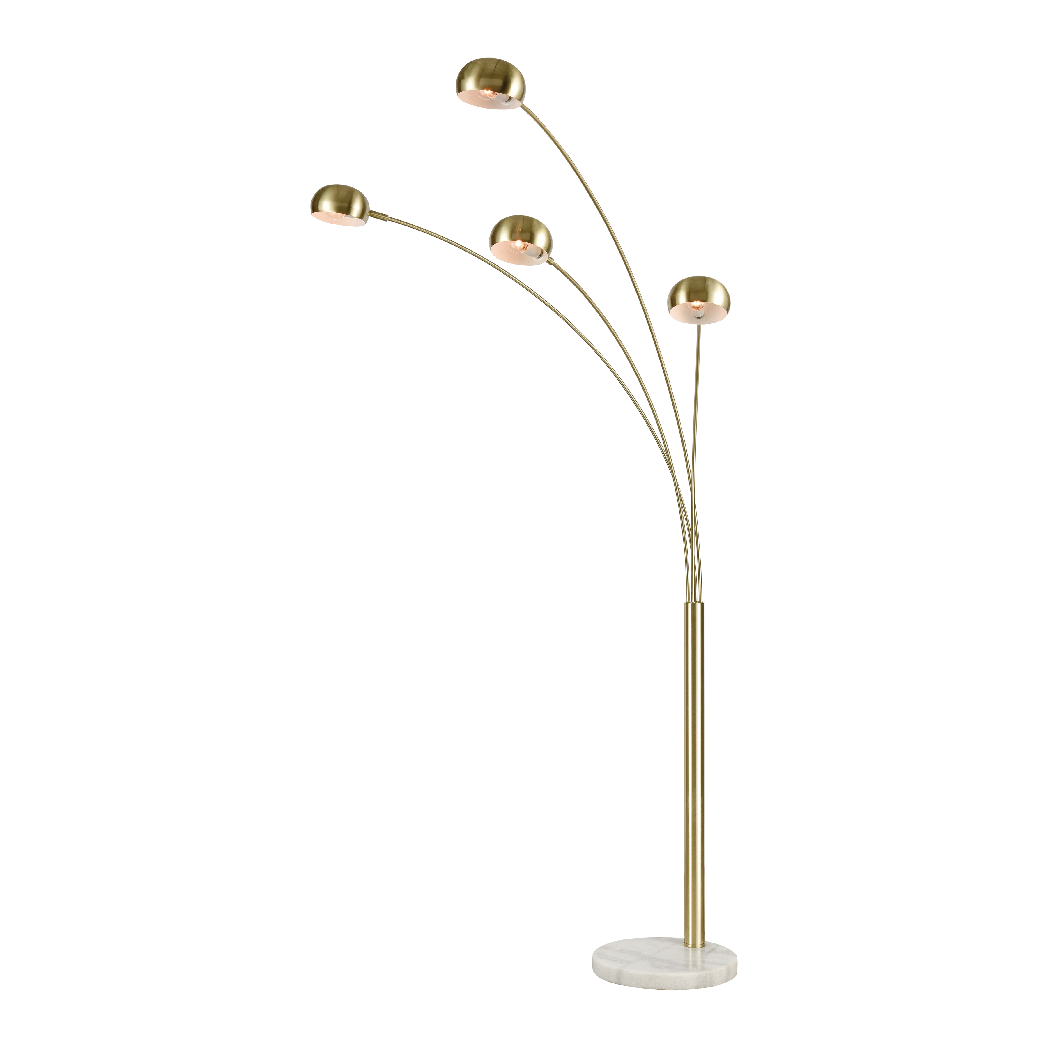 Stein World Skyline 4-Light Adjustable Floor Lamp Satin Brass