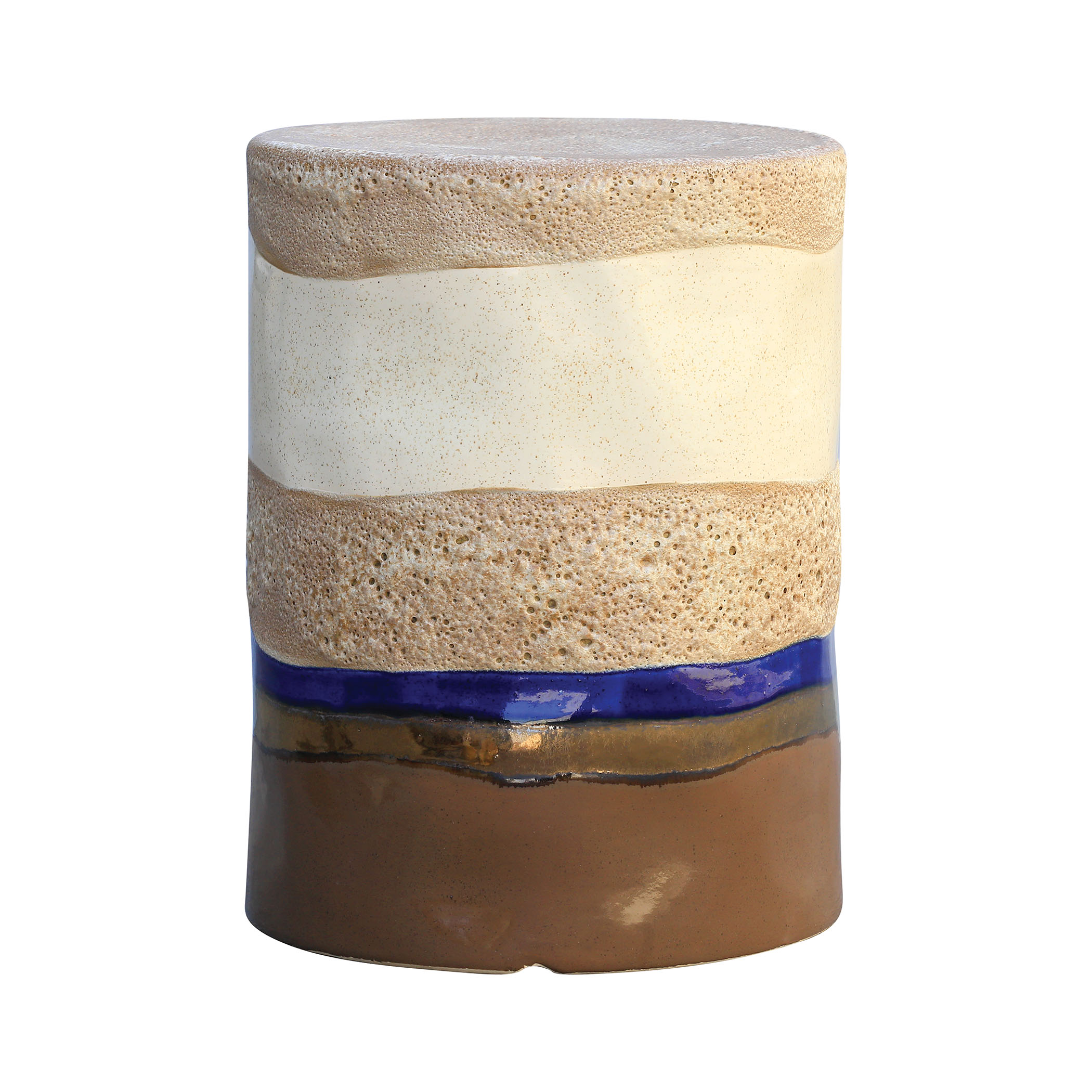 Mangan Stool in Oatmeal, Canon Browns, and Navy | Elk Home