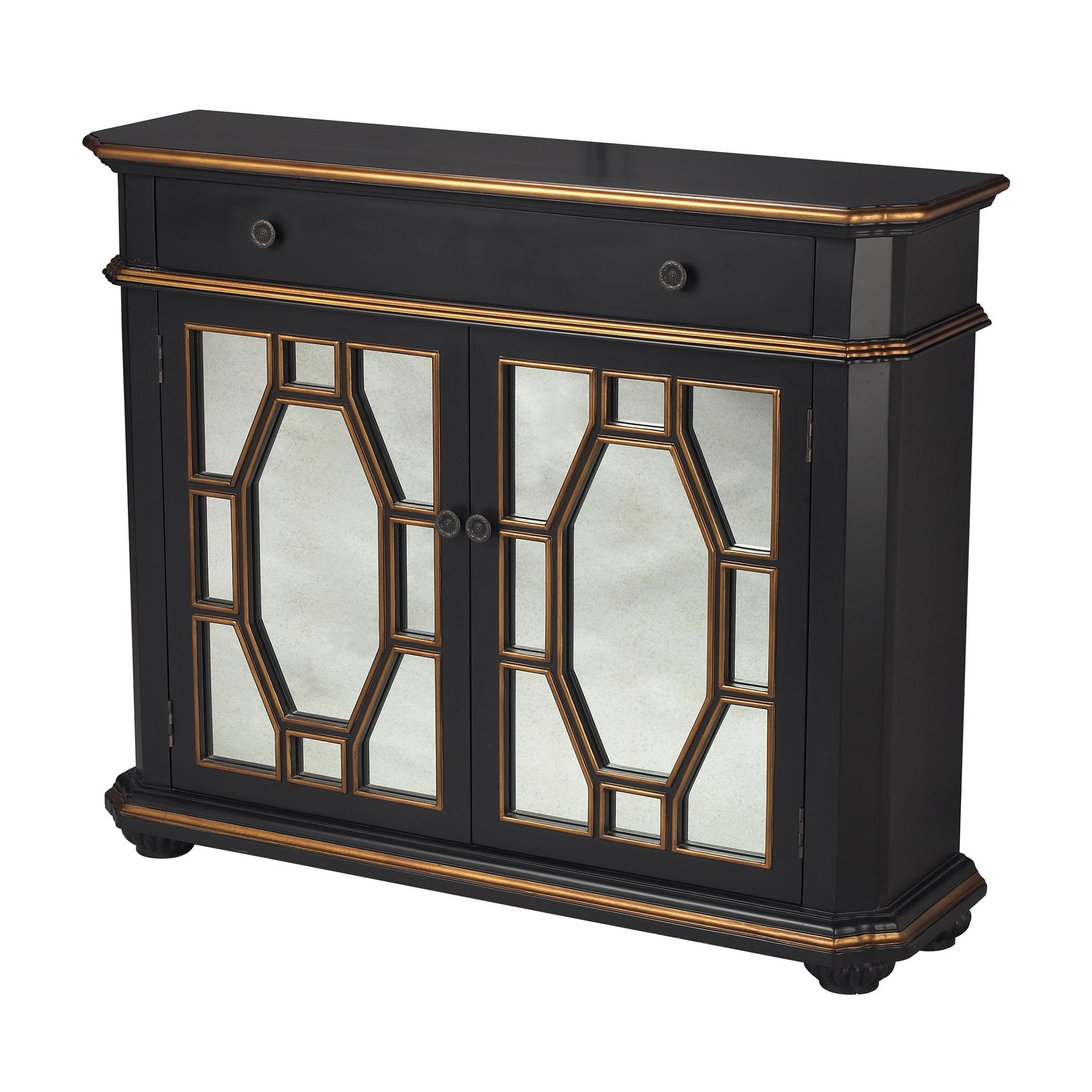 Presidio 2-Door Cabinet in Black-Js | Elk Home