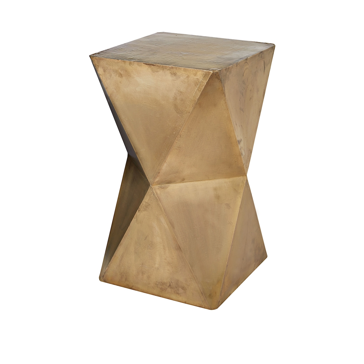 Faceted Stool with Brass Cladding Gold | Elk Home