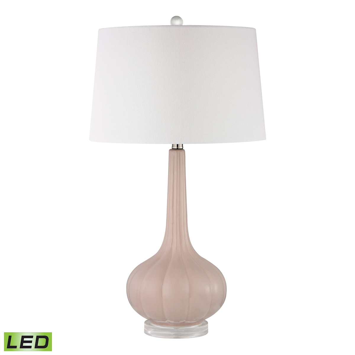 Abbey Lane Ceramic Table Lamp in Pastel Pink LED | Elk Home