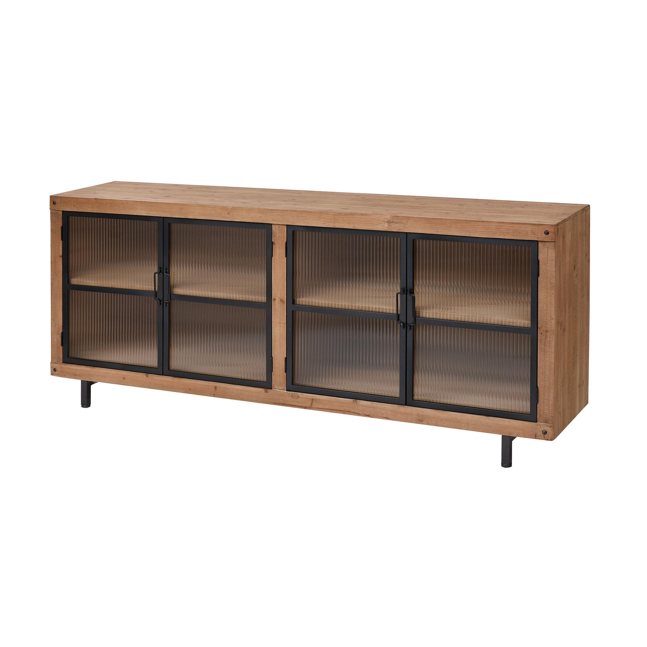 Institution Media Unit in Natural Wood Tone And Black 3187-020 | ELK Home