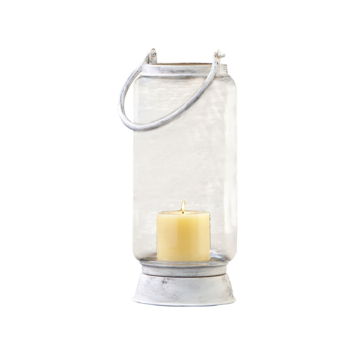 Pomeroy Taos Large Lantern in Antique White 401350