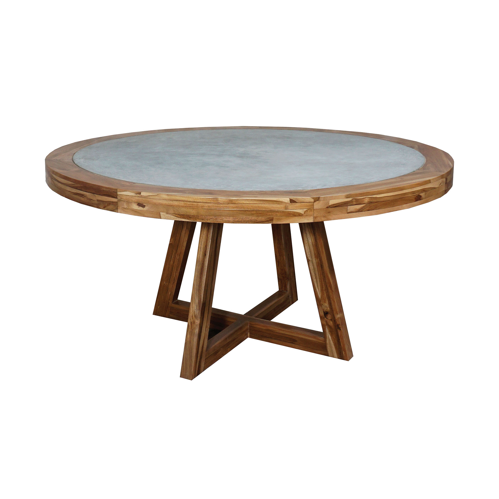 Orchard Dining Table in Teak And Concrete 6118502 | ELK Home