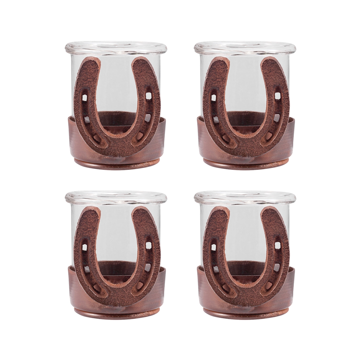Pomeroy Horse shoes Set of 4 Votives 621222 S4