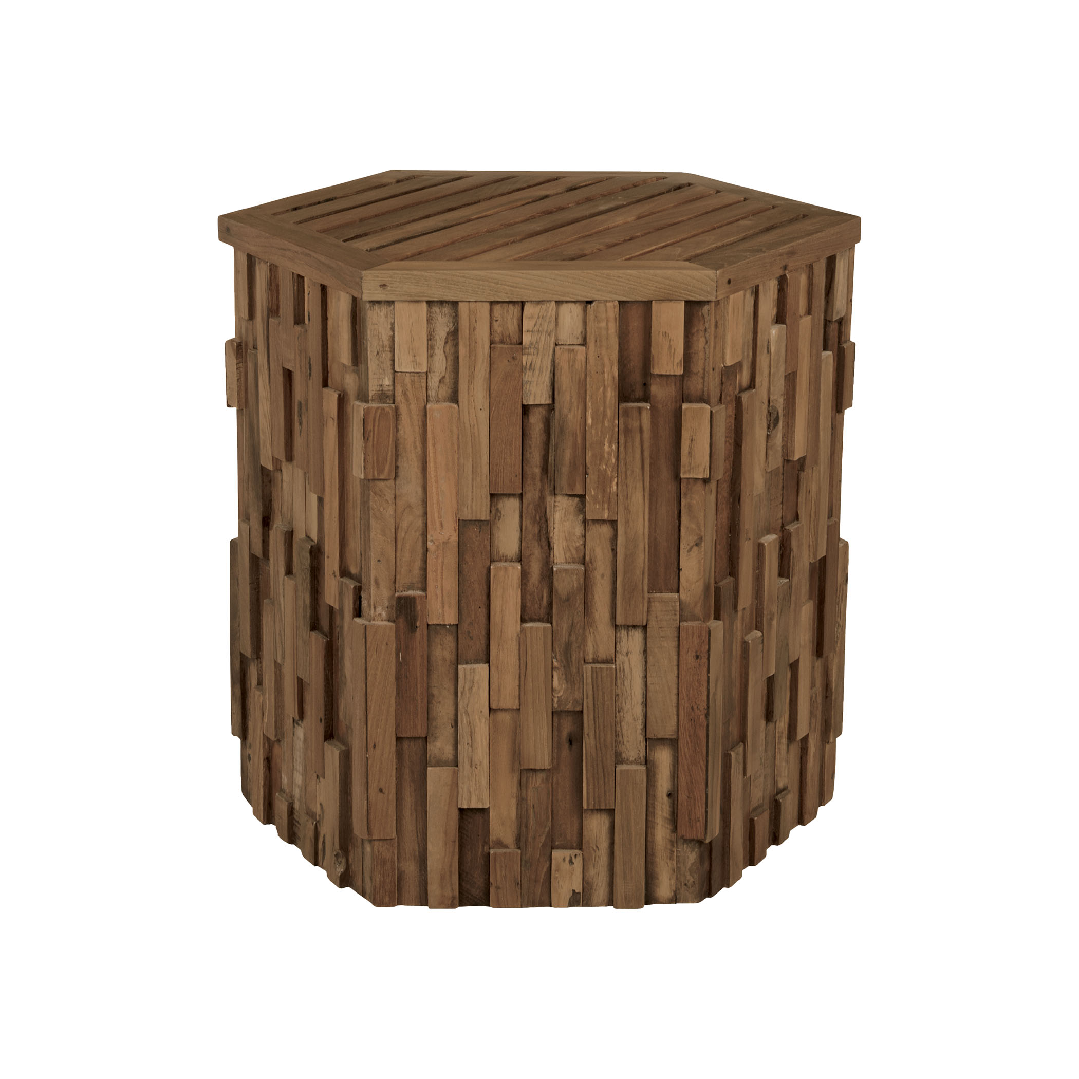 Teak Wood Side Table in Burnt Umber 6517001BU | ELK Home