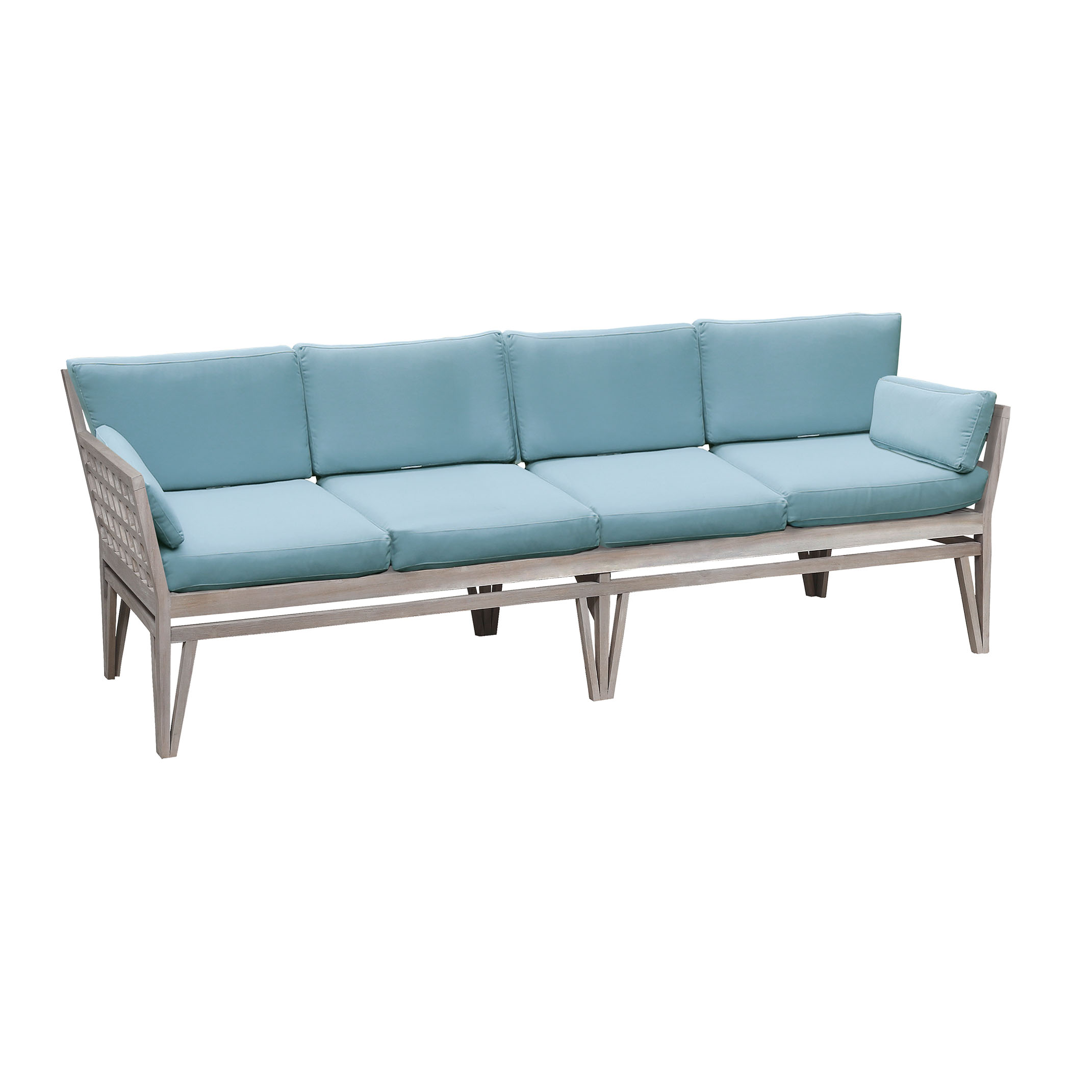 Newport Outdoor 4-Seat Sofa with Set of 10 Sea Green Cushions 6518004HT-SO | ELK Home