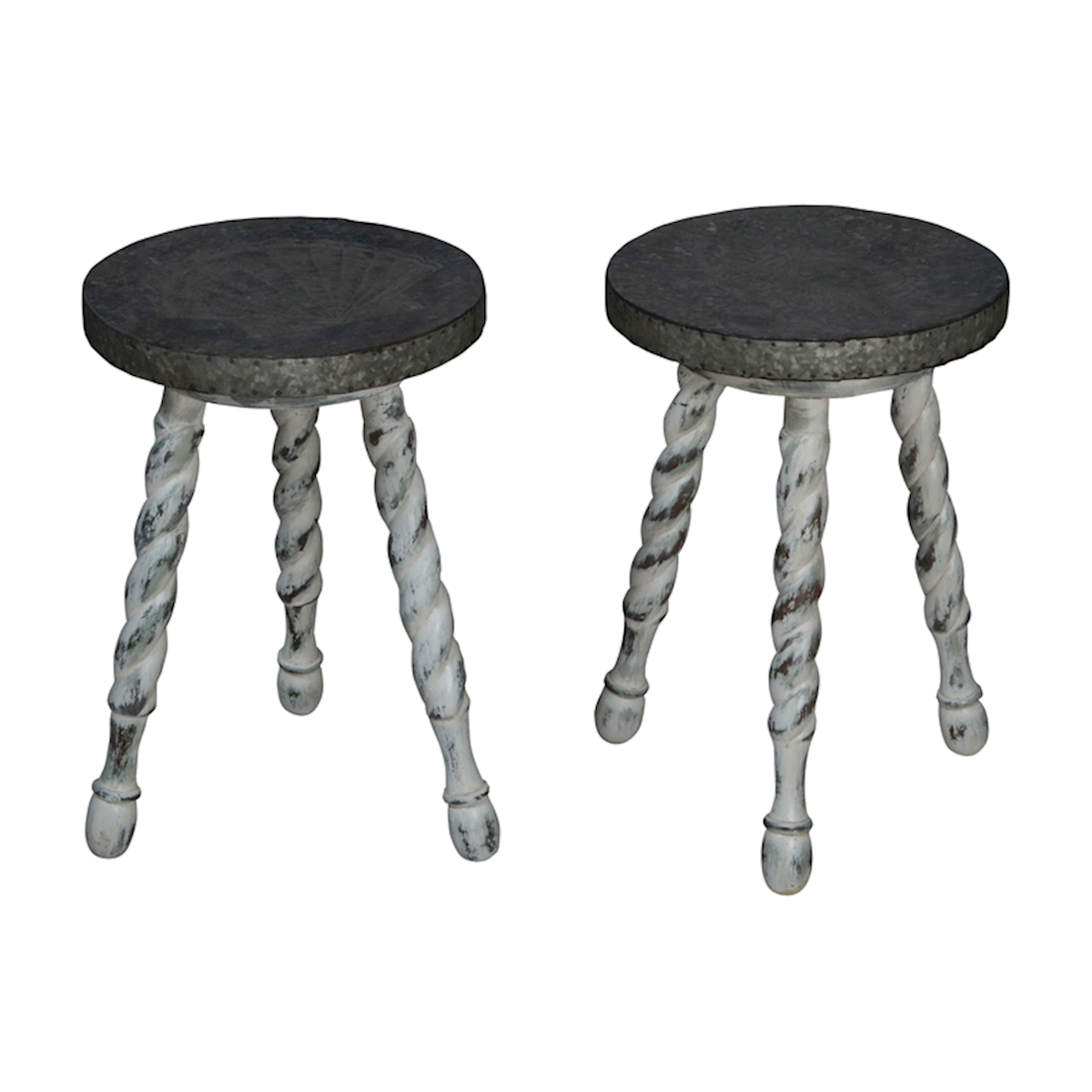 Waterfront Barley Twist Stools 654526S | ELK Home