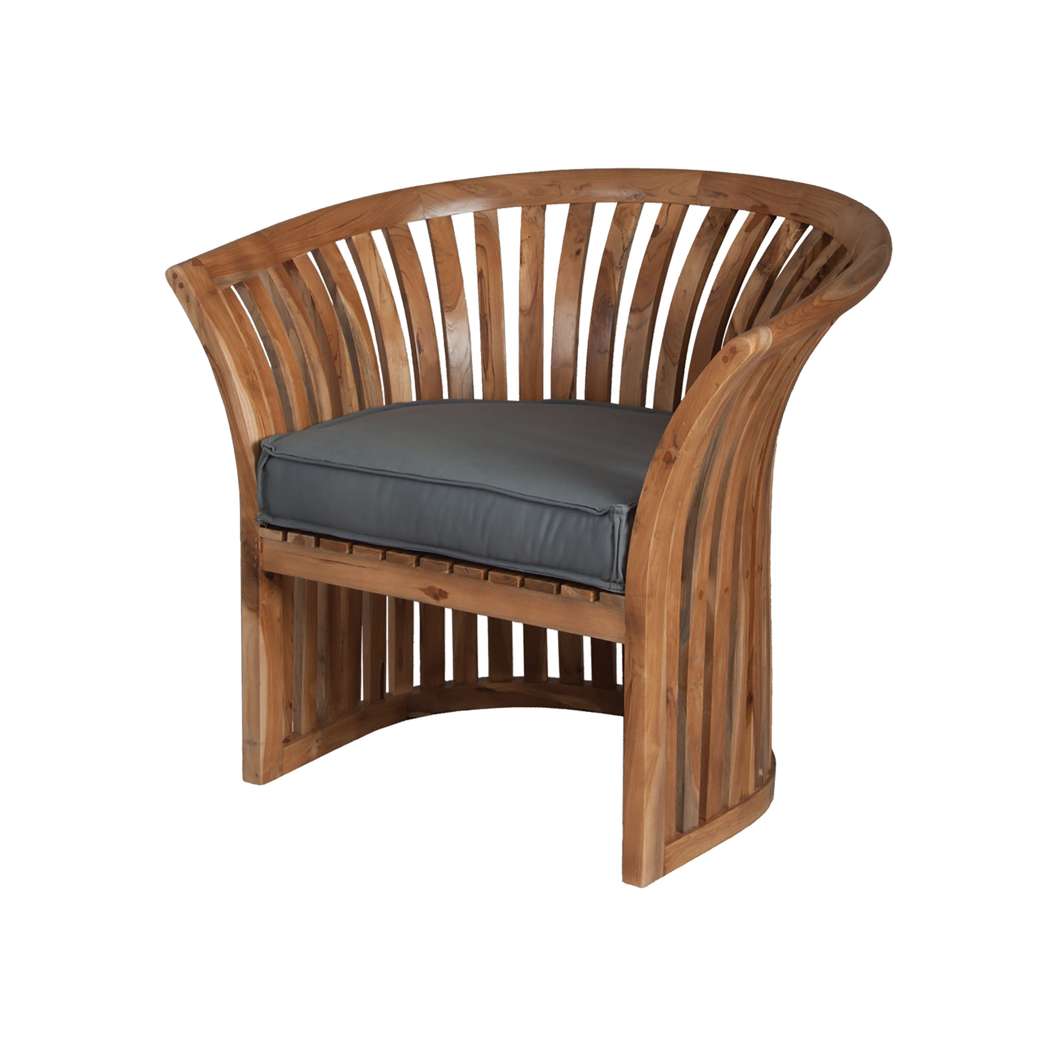 Teak Barrel Chair in Euro Teak Oil 6917001ET | ELK Home