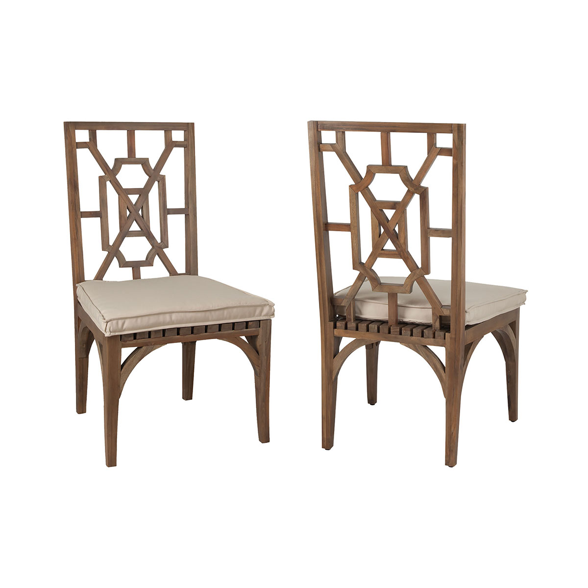 Teak Patio Dining Chairs in Burnt Umber Set of 2 6917010P-BU | ELK Home