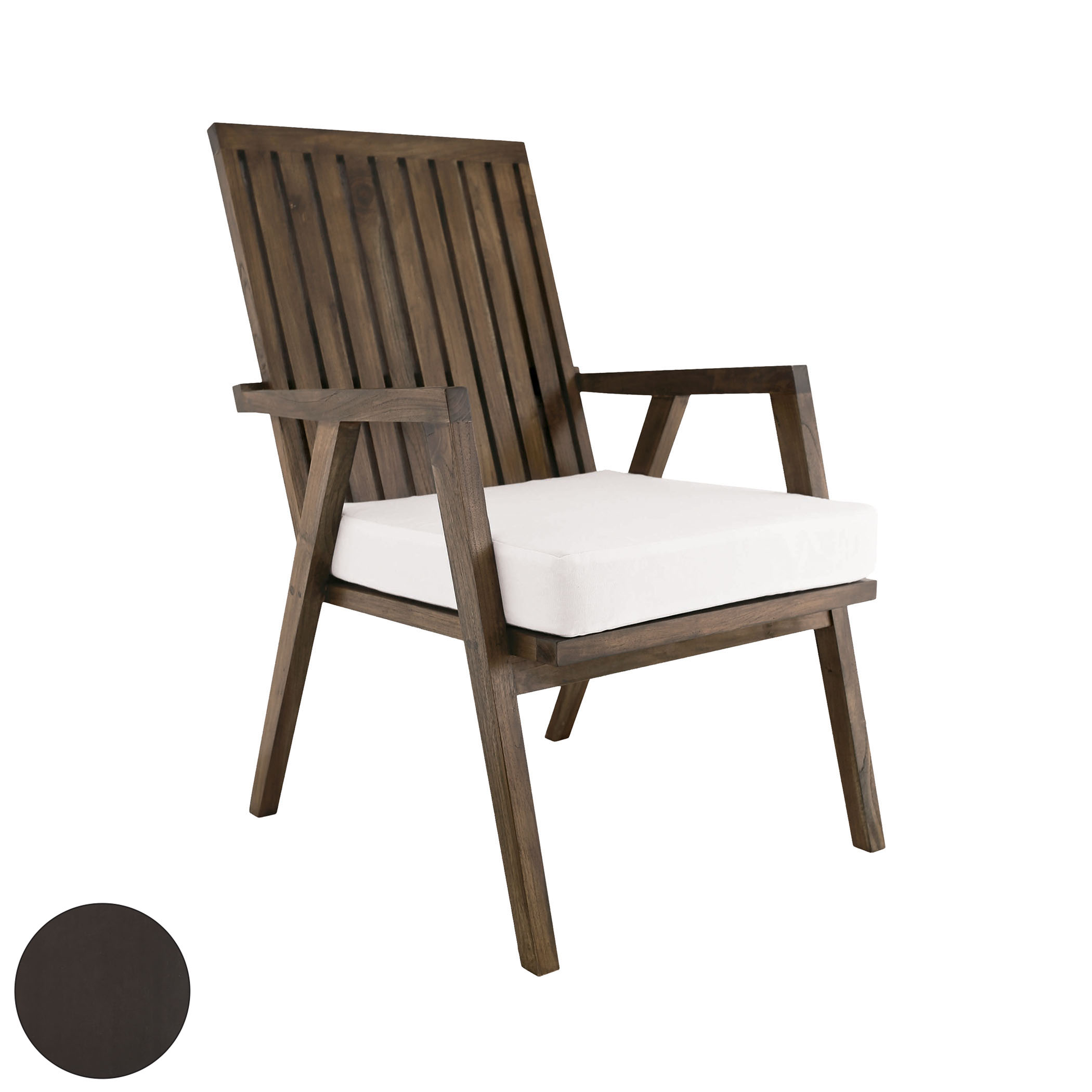 Teak Garden Patio Chair in Antique Smoke 6917015AS | ELK Home