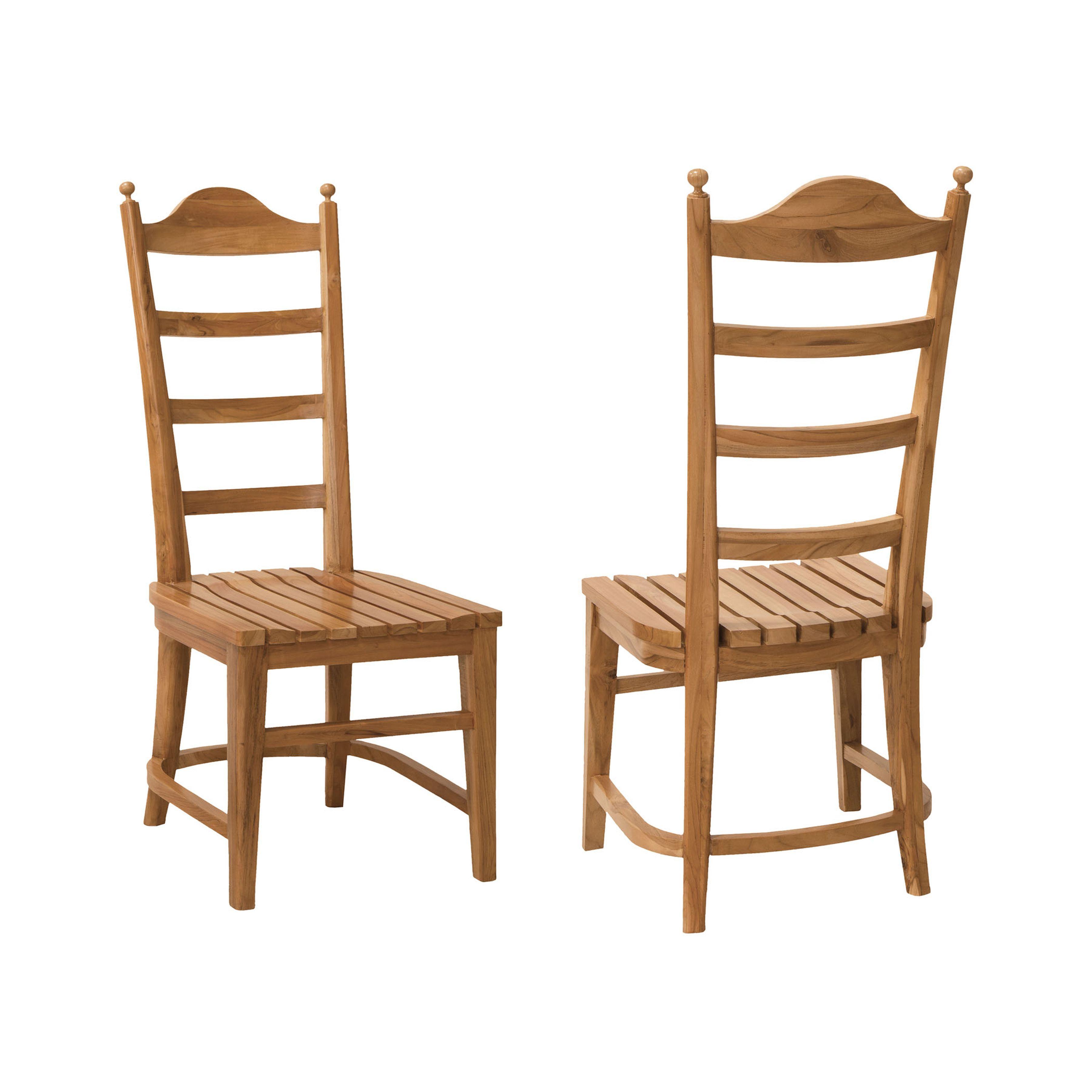 Tuscan Teak Ladder Back Chair Set of 2 6917501P-ET | ELK Home