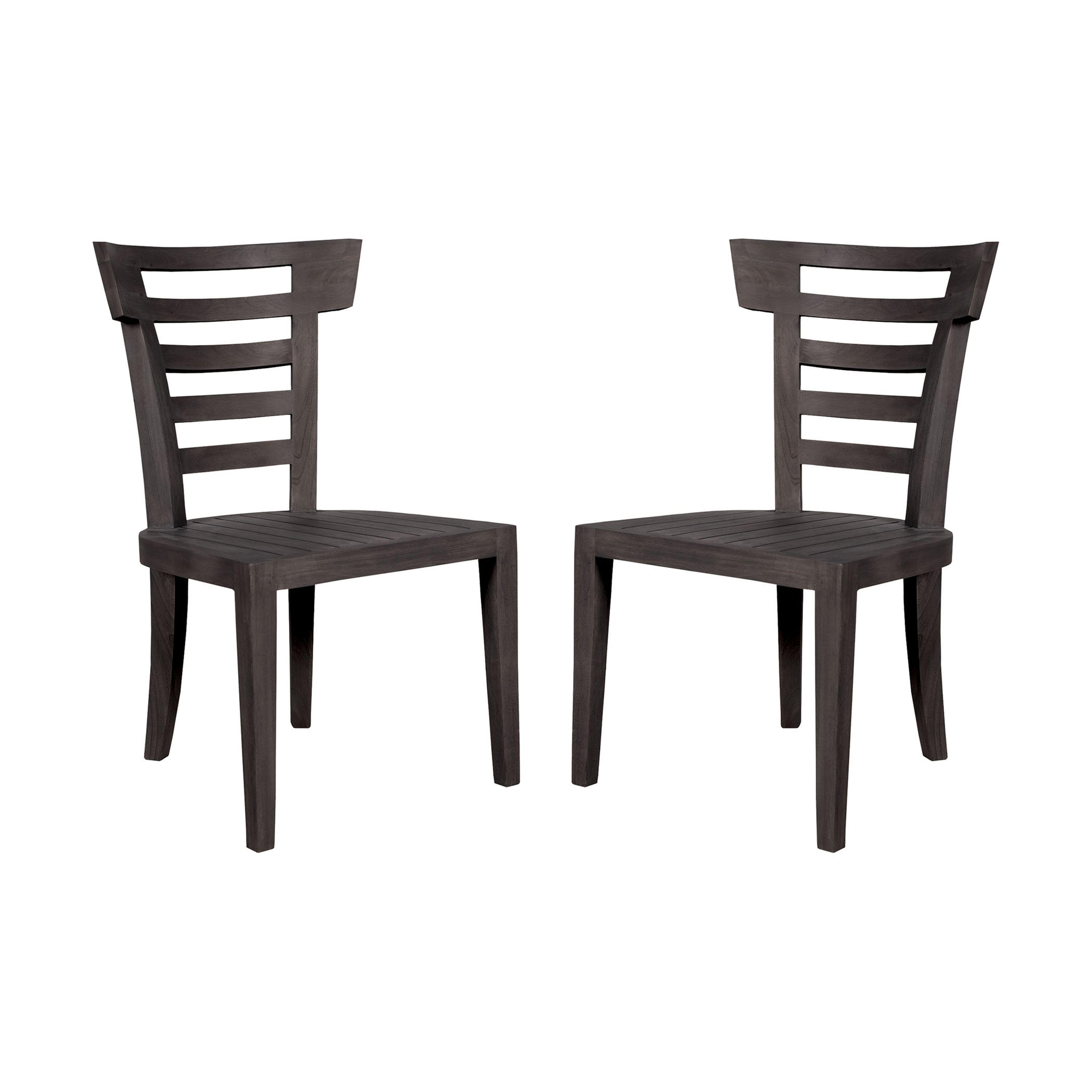 Teak Patio Outdoor Morning Chair Set of 2 6917502P-AS | ELK Home