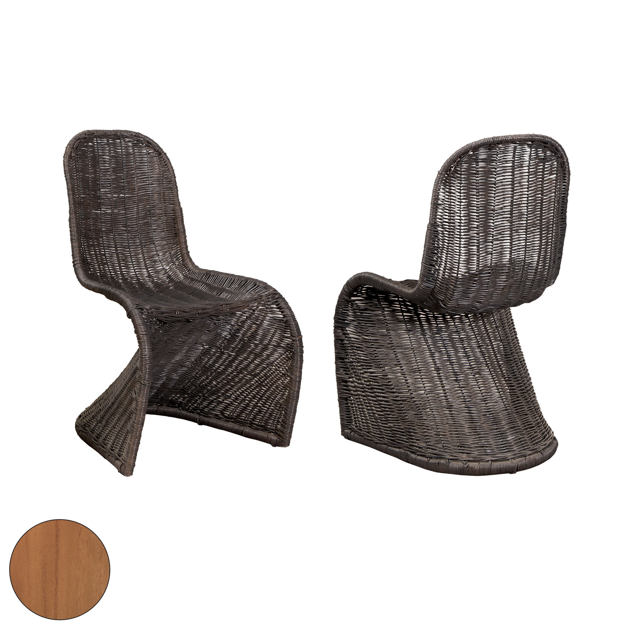 Rattan Dining Chair Set of 2 6917509P-ET | ELK Home