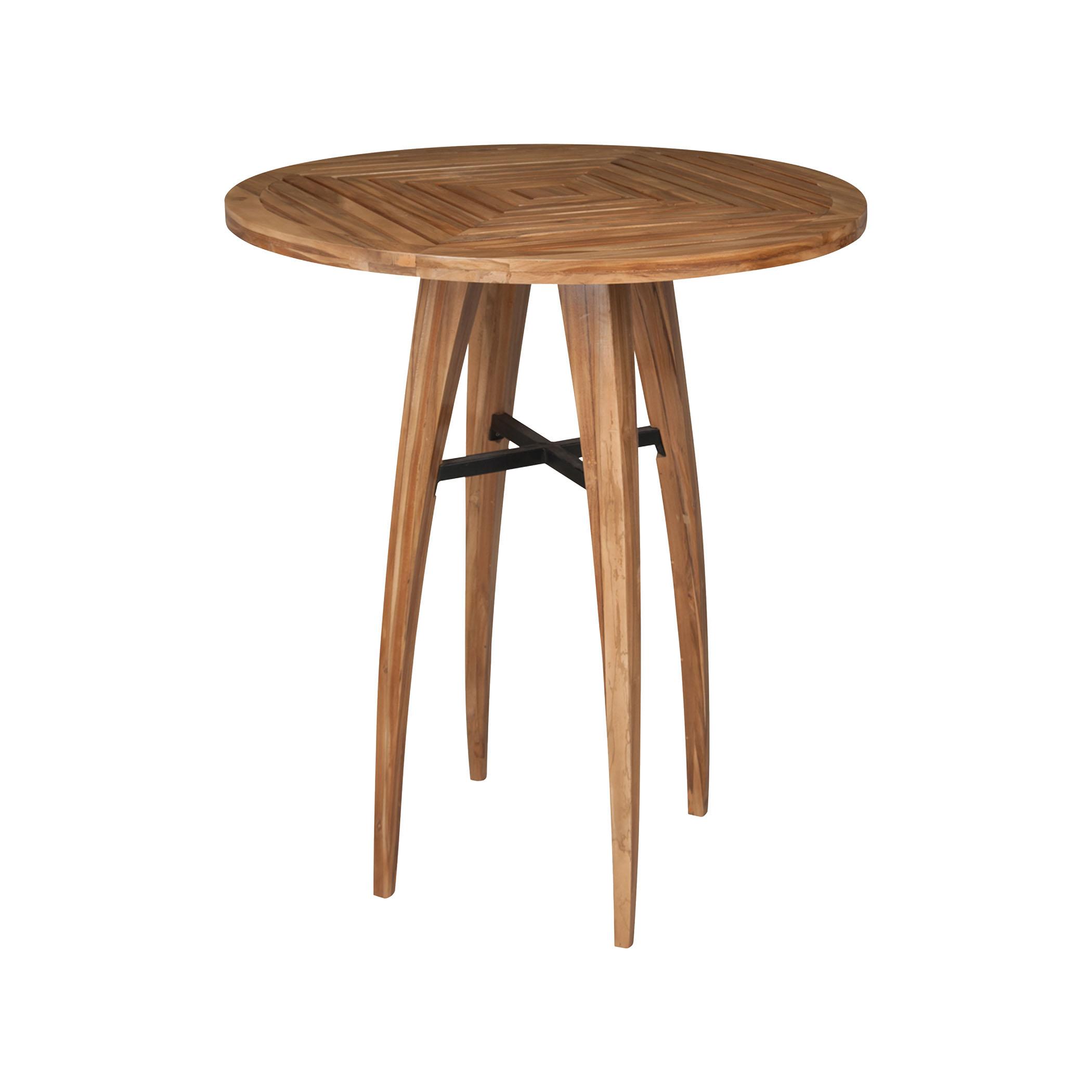 Teak Wood Bistro Table in Euro Teak Oil 7117004ET | ELK Home