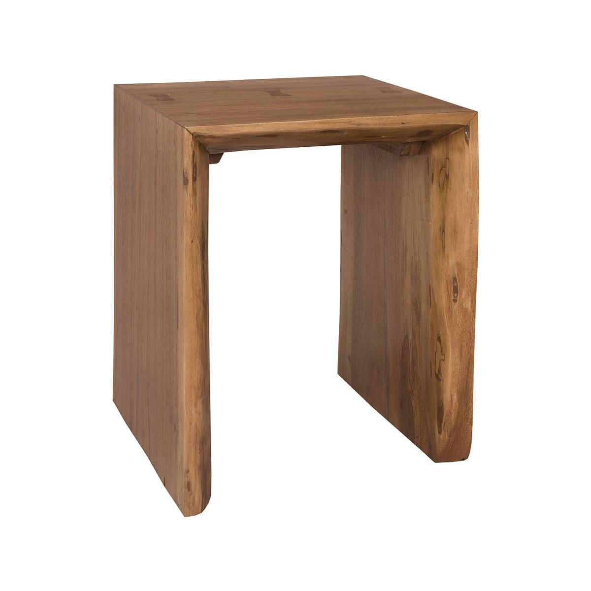 Teak Slab Side Table 7117507ET | ELK Home