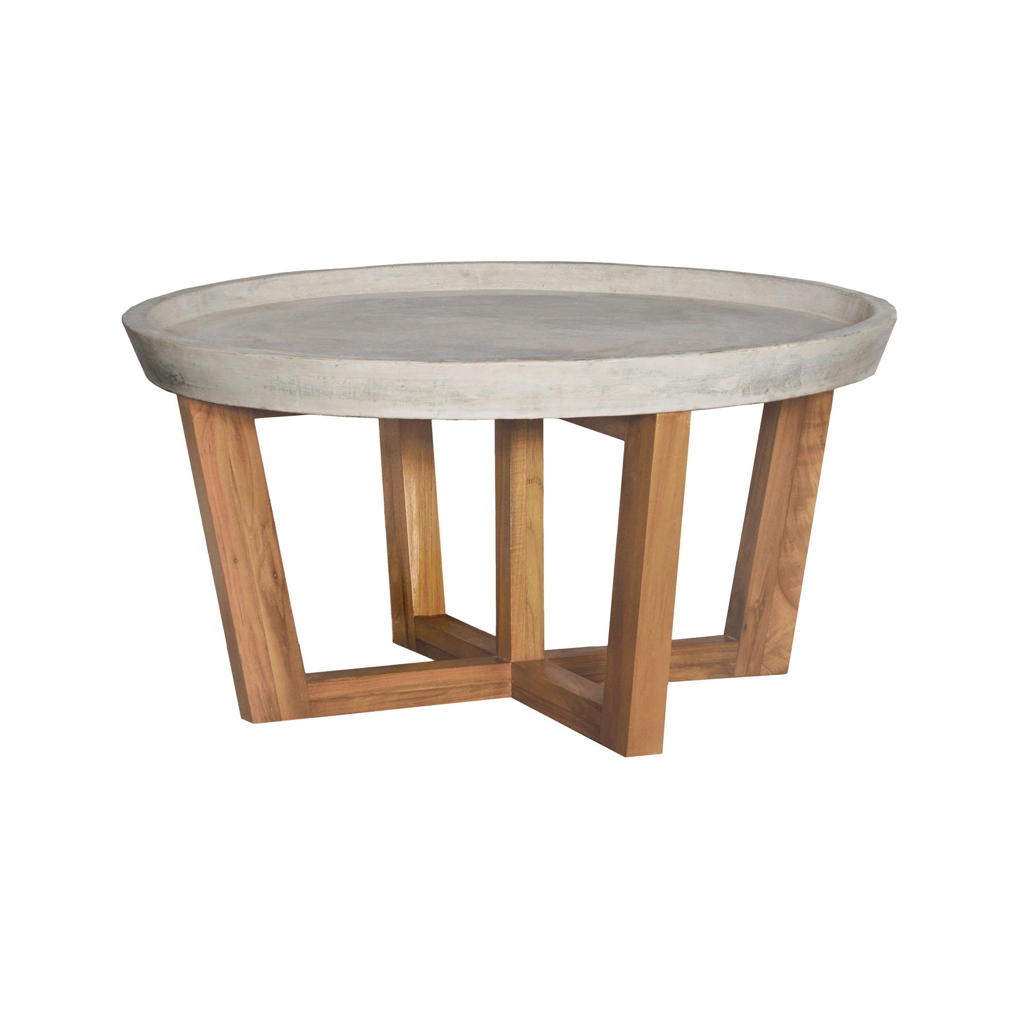Round Concrete Cocktail Table 7117533ET | ELK Home