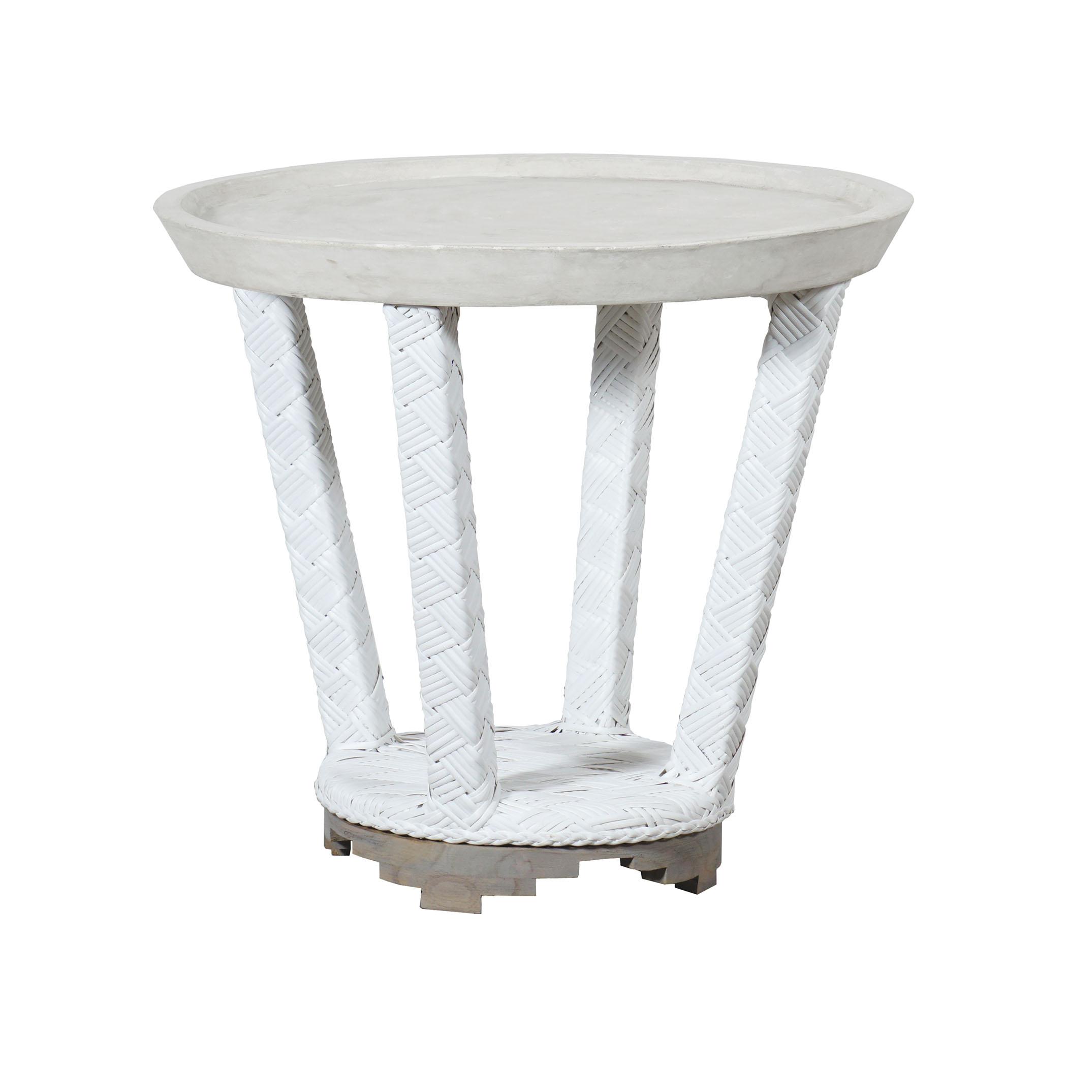 Cape Town Outdoor Concrete Side Table 7118005   ELK Home