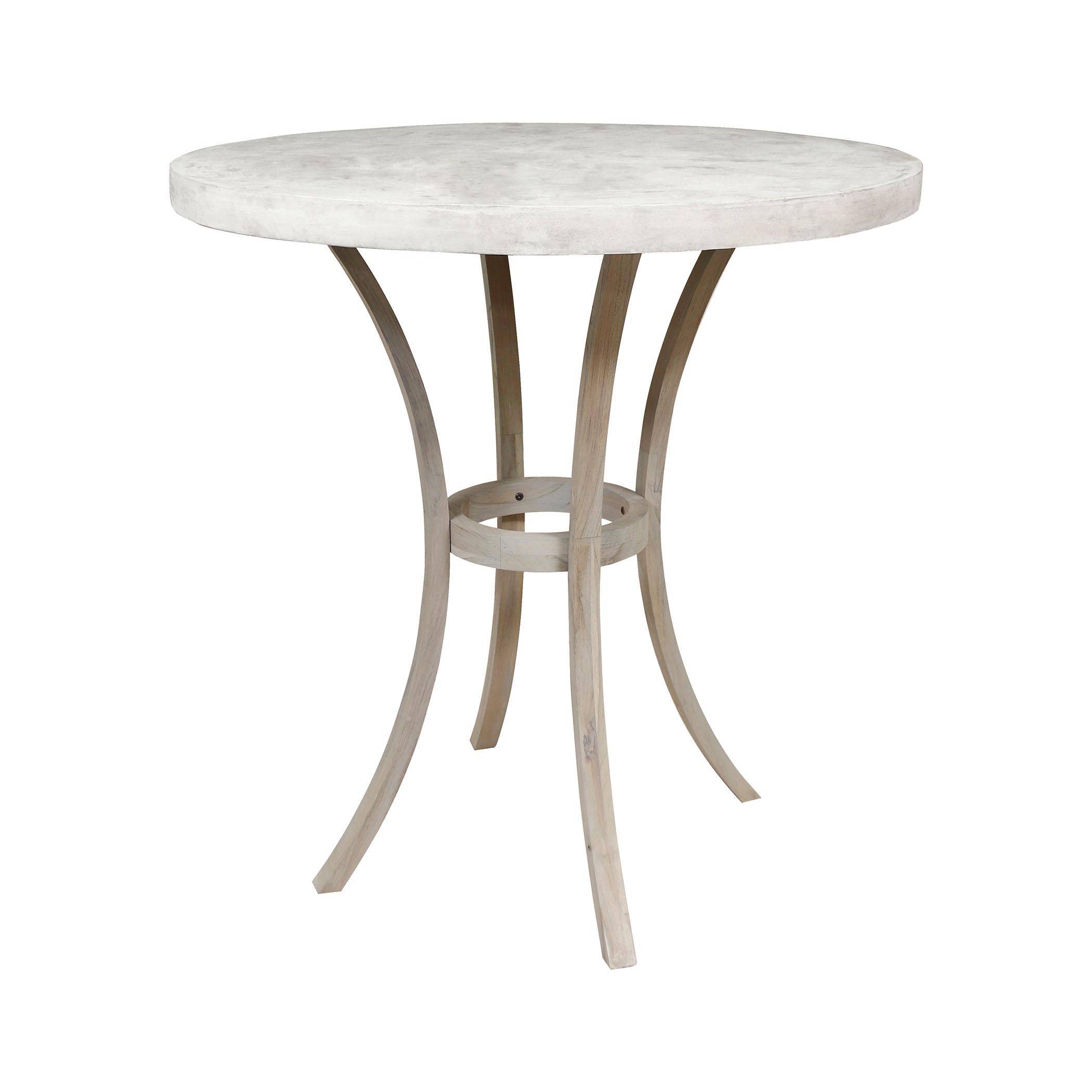 Teak Bistro Outdoor Concrete Table 7118010HT   ELK Home