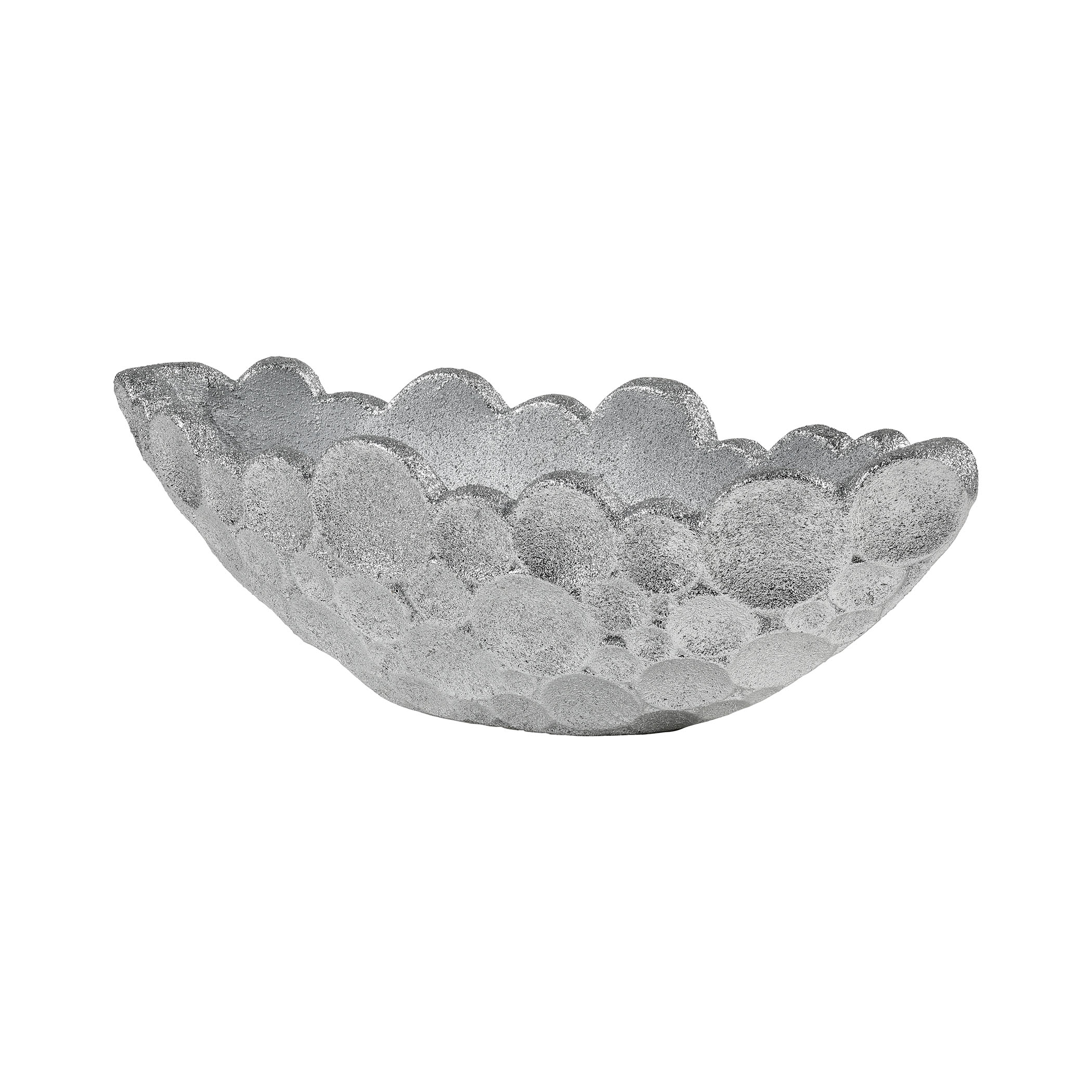 Sea Foam Planter in Silver Plaster 9166-110   ELK Home